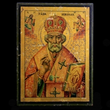 19th Century Greek Icon of St Nickolas