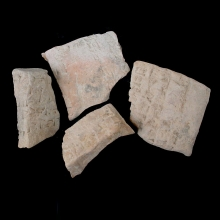 _-four-fragments-from-sumerian-clay-envelopes,-with-cuneiform-inscription._x8591a