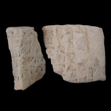 _-four-fragments-from-sumerian-clay-envelopes,-with-cuneiform-inscription._x8591b