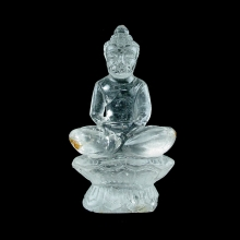 A Chinese rock crystal seated Buddha, 20th Century