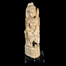 A finely carved Gandharan bone goddess figure
