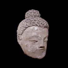 a-gandharan-sunbaked-earthenware-head-of-buddha_08548b