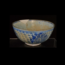 A Jaining Dynasty blue and white porcelain bowl.