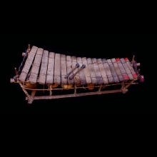 A musical percussion instrument, balafon