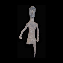 A rare Indus Valley lead and antimony votive figurine