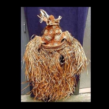 A spectacular West Asmat woven spirit costume, jipae.