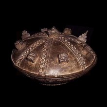 A very old Baule bronze bowl and lid