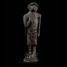 A Western Asiatic bronze figure of a monkey headed deity