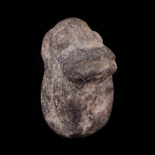 An archaic Dogon hard stone zoomorphic figure with simian features