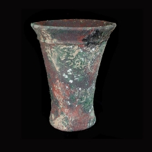 An Indo-Iranian bronze beaker with flared rim.
