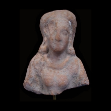 An Indus Valley clay female bust, Kushan Period