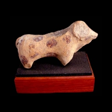 An Indus Valley painted clay figurine of a zebu bull