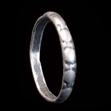 An Islamic silver ring.
