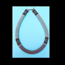 An old and extremely fine Zulu bead necklace