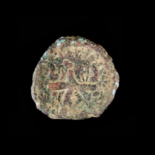 ancient-indian-bronze-coin,-kushan-period_x3850a