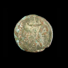 ancient-indian-bronze-coin,-kushan-period_x3851a