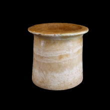 Bactrian banded alabaster beaker-shaped vessel