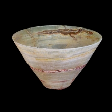 Bactrian banded alabaster bowl