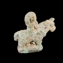 Bactrian bronze figure of a horse; underside used as a stamp-seal