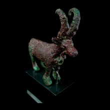 Bactrian bronze figure of a mouflon
