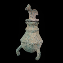 Bactrian bronze khol bottle, stopper with bird terminal