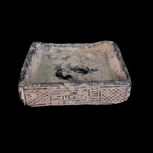 Bactrian carved grey-stone cosmetic tray