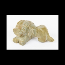 Bactrian figurine of a recumbent lion