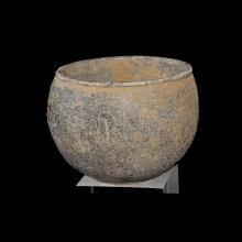 Bactrian grey schist vessel