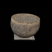 Bactrian grey steatite vessel