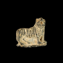 Bactrian hardstone amulet of a lion, 2nd millennium BC