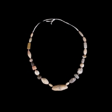 bactrian-stone-bead-necklace-featuring-various-shaped-and-coloured-beads_x5347a