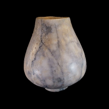Bactrian veined hardstone vessel