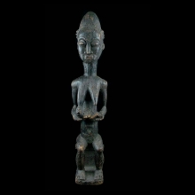 Baule female statue, Ivory Coast