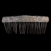 Chinese silver hair comb