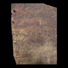 Coptic leather fragment of shoe sole with text in ink