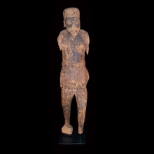 Dogon wooden figure of a Muslim colonial