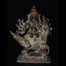 South Indian bronze figure of Ganesha