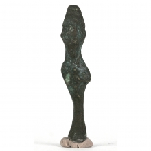 A miniature bronze figure of Osiris