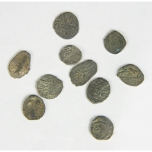Group of ten (10) Ottoman silver Akces