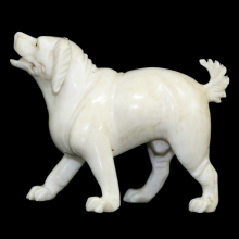 An ivory carving of a dog
