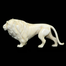 An ivory carving of a lion