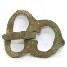 Roman bronze belt buckle