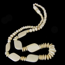Pre-Ban Ivory Bead necklace - India 19th Century