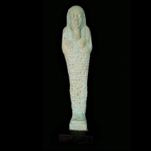 Egyptian blue glazed faience Ushabty