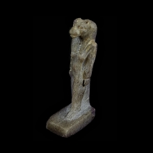 Egyptian gneiss amulet depicting the goddess Sekhmet