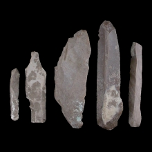 Five Egyptian Predynastic flint stone scrapers & knifes.