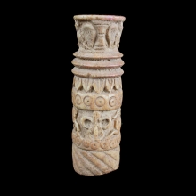 Gandharan bone libation vessel with frieze of deer