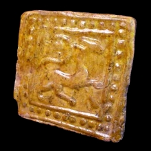 ghaznavid-yellow-glazed-pottery-tile-decorated-with-mythological-creature-and-dot-motif_06233b