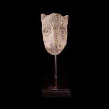 Harrapan / Mohenjo-daro carved limestone head of a dog or wolf