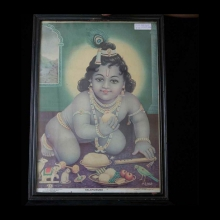 indian-antique-print-of-the-baby-krishna-in-frame_xx113b